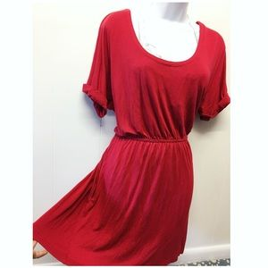 Hot & Delicious | Red Cover Up Dress Back Cut-Out